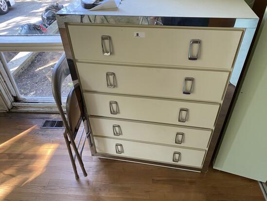 Vintage Retro Mirror Finish Dresser