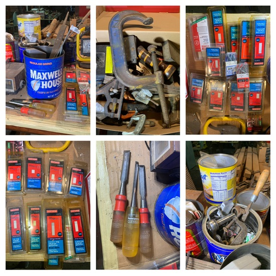 Workshop Tools, Safe, Vintage Furniture & More