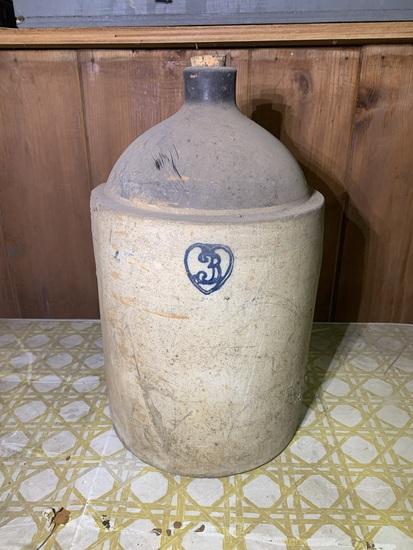3 Gallon Stoneware Jug