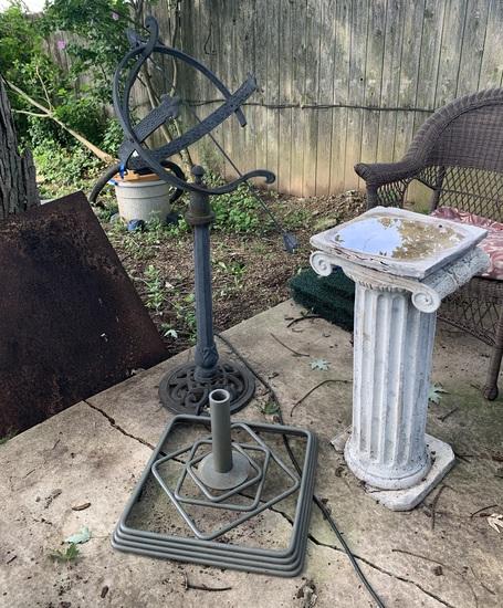 Yard Art, Pedestal & Umbrella Base
