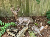 2 Concrete Deer