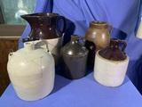 5 Pieces of Stoneware