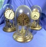 3 Anniversary Clocks
