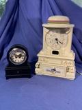 Vintage Grandpa Time Clock & Butterfly Clock