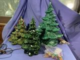 3 Ceramic Christmas Trees