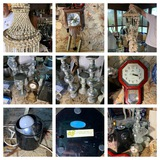 Decorative Shell Hanging, Clocks, Candle Stands, Carousel, & More