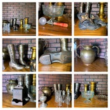 Candle Sticks, Early Childrens Shoes, Match Safe & Mold