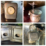 IBM Clock, West Germany Music Box / Bank & 2 Silver Plated Frames