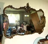 Large Ornate Decorative Mirror
