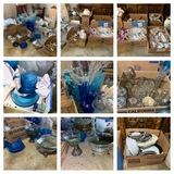 Fantastic Group of Glassware - Carnival Glass, China,Desk Lamps, Amber Glass & More.