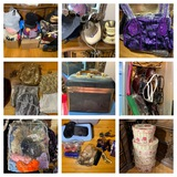 Beautiful Group of Scarves, Purses, Hats, Sunglasses, Hair Accessories & More