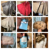 Great Group of Capes, Vintage Hat & Gloves.  See Photos