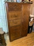 Cedar Lined 5 Drawer 1 Door Armoire