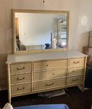 Single Bed, Dresser with Mirror, Desk, Night Stand & Side Stand