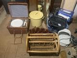 Picnic Basket, Laminator, Umbrella Lights, Glue Gun, Drink Dispenser & More