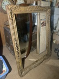 Beautiful Ornate Wooden Frame, 5 Mirrors and Angel Print