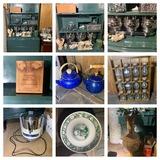Green Book Shelf , Pampered Chef Bread Baking Crock, Spice Rack & More