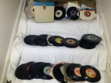 Great Group of 45's and Cassette Tapes.  See photos for titles.