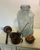 Large Counter Jar, & Copper Items