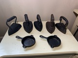 Great Group of Cast Iron - Mini Cast Iron Skillets & Small Irons