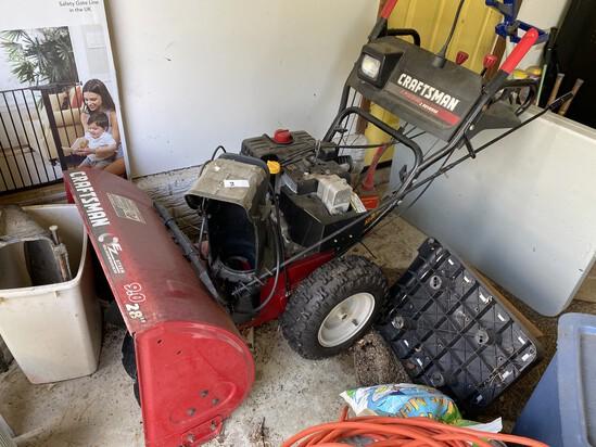 """Craftsman 9 hp 28"""" snowblower"""