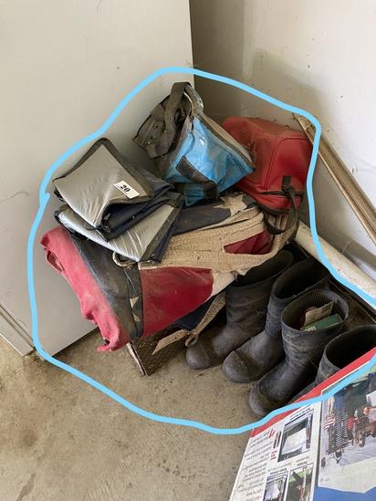 2 boxes new Johann Haviland China, flag, boots etc