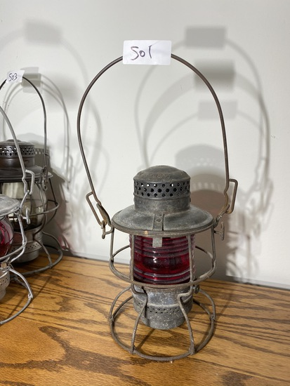 Antique Pennsylvania Railroad PRR Lantern