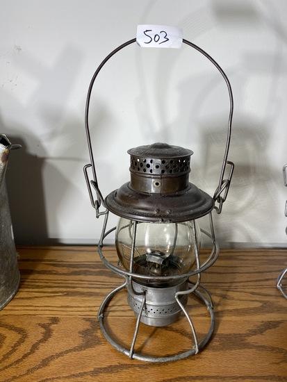 Antique Adlake Pennsylvania System PS Railroad Lantern