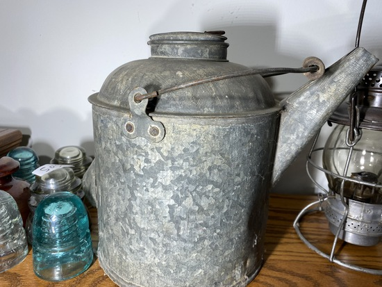 Antique Railroad Oiler or Bucket with Spout -  Pennsylvania Railroad