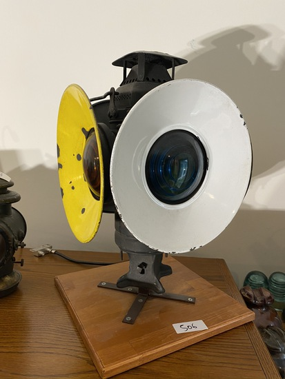 Antique Pennsylvania Railroad Adlake Non Sweating Lamp