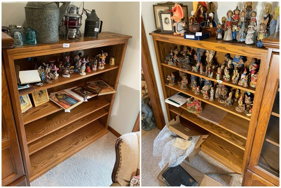 2 Wooden Shelf units