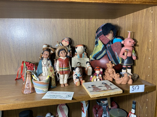 Group lot of Native American themed figurines