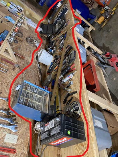 Workbench contents top lot - tools and more