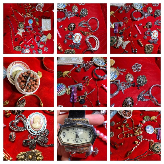 Great Group of Costume Jewelry & Watches