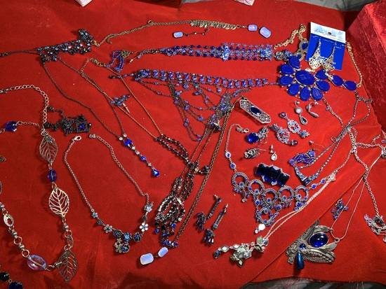 Great Group of Costume Jewelry, Art Deco Style