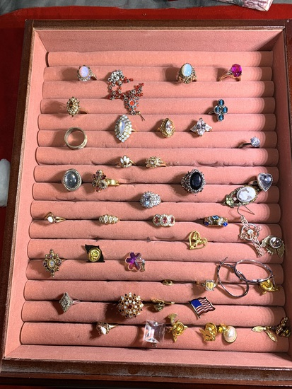 Great Group of Costume Jewelry Rings