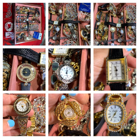 Great Group of Costume Jewelry and Watches