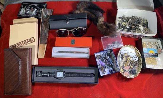 Hair Pins, Sunglasses, Wallet, Pen & More