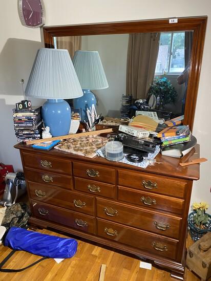 Vintage Ethan Allen Cherry Dresser with mirror