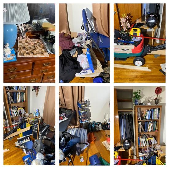 Room contents lot not including dresser