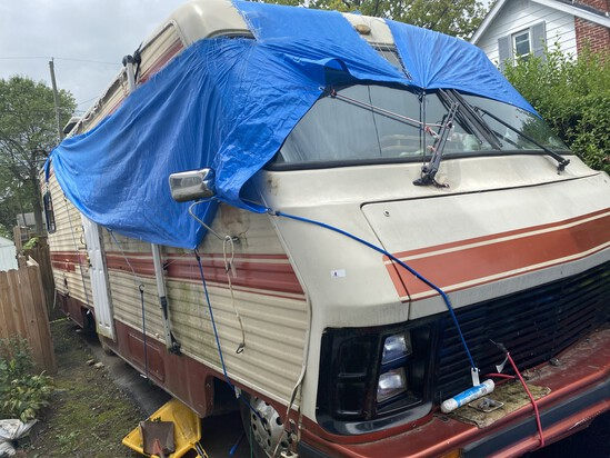 Vintage Sun Sport Camper Motor Home and Contents