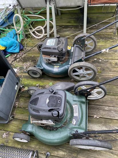 2 Push Lawn Mowers