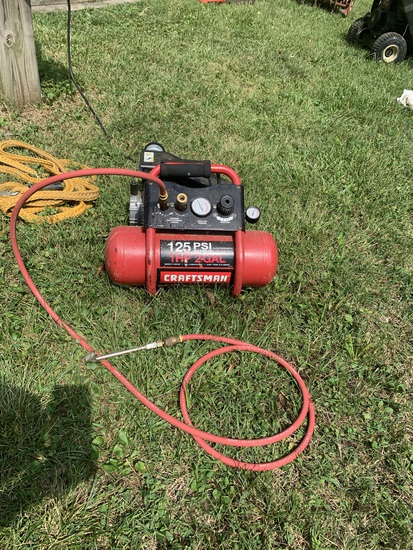 Craftsman 1HP 2 Gallon Direct-Drive, Oil Lubrication, Cast Iron Cylinder Air Compressor
