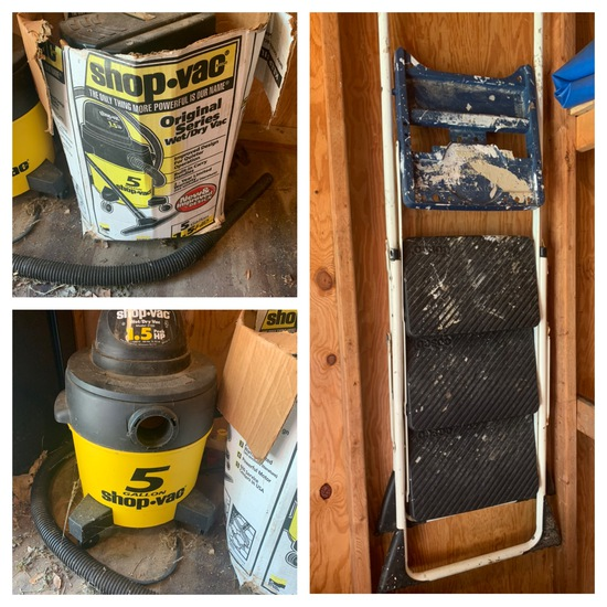 5 Gallon Shop Vac & Step Ladder
