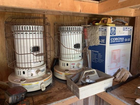 3 Kerosine Heaters & More