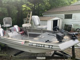 Sea Sprite Fishing Boat Model 1573 0/8 with 75 HP Johnson Motor & Custom Haul Trailer