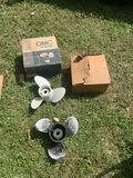 2 Boat Propellers.  1 by OMC.  See Photos for Damage
