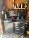 Craftsman Workbench with Contents & Craftsman Work Light. See Photos