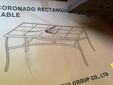 Sonoma Outdoors Coronado Rectangular Outdoor Dining Table in Box