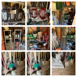 Shed Cleanout, Shelving, Gardening Items, Yard Tools, Solar Lanterns & More